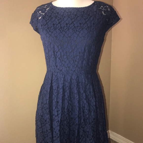 Madewell Dresses & Skirts - Madewell Lacebloom floral lace fit & flare size 4